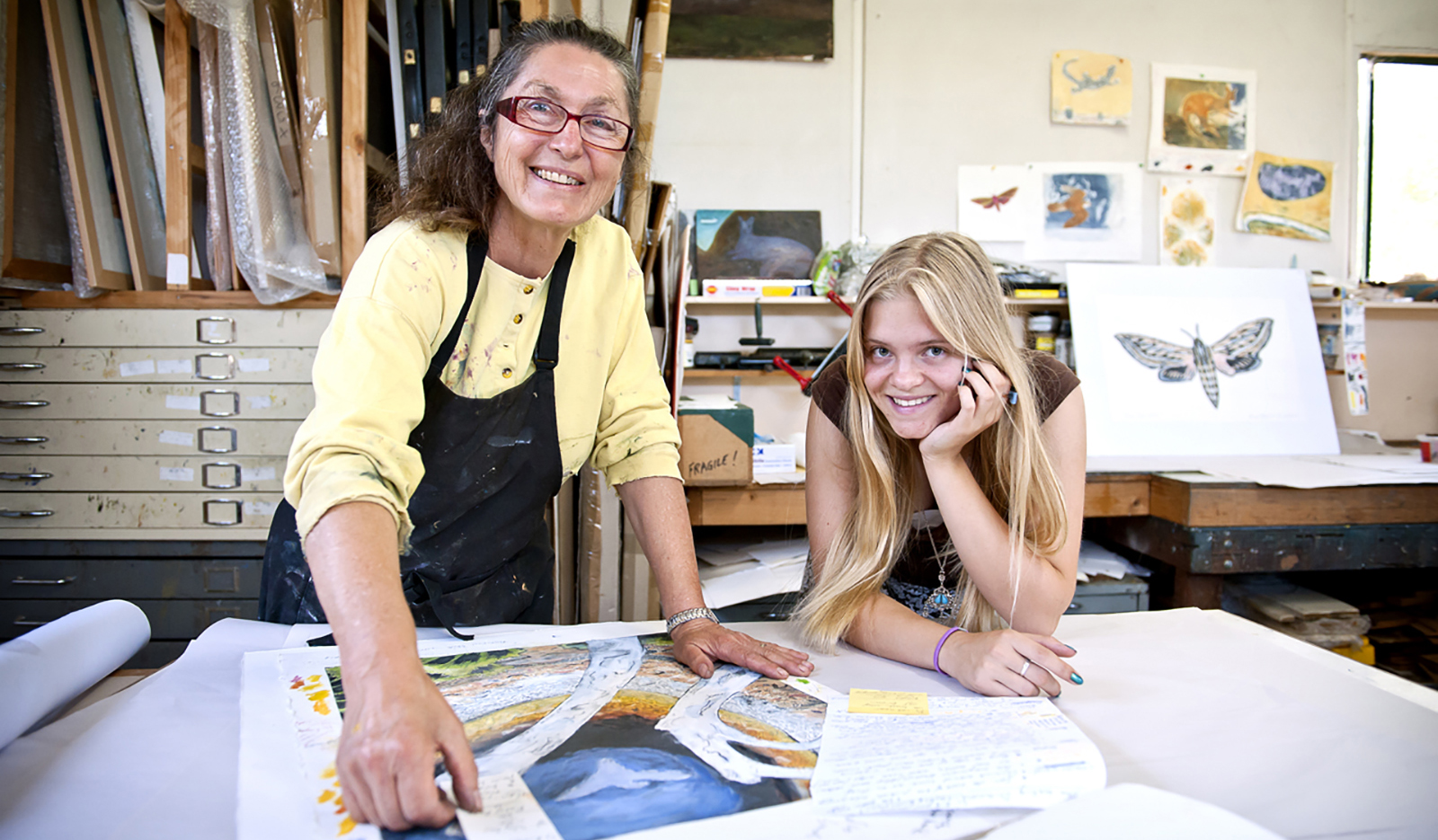 Jenny Clapson has spent much of her career nurturing and encouraging young artists.
