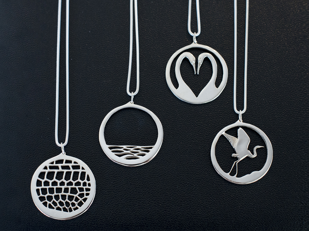 Sterling silver pendants by Australian artist Fred Peters