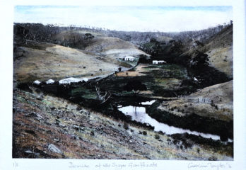 Hand-coloured photos of Historic Western River Homestead. Limited edition prints by Kangaroo Island artist Caroline Taylor