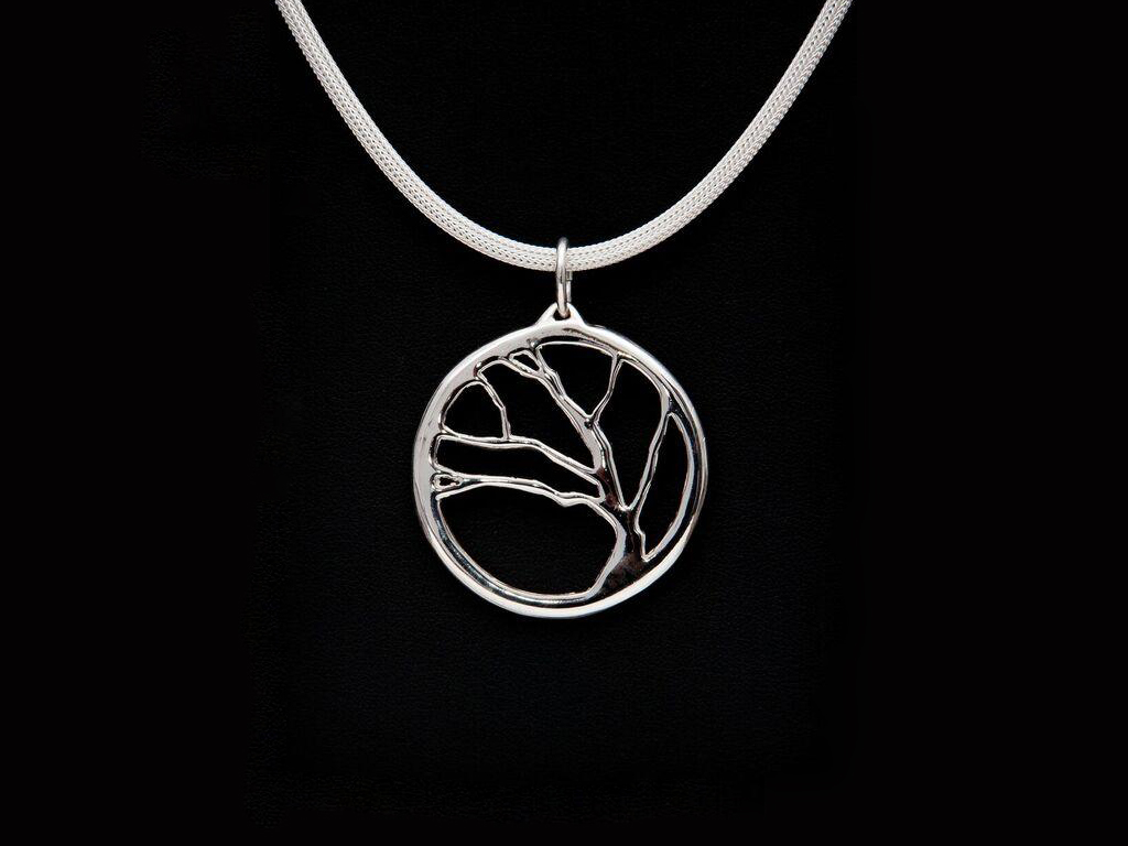 Tenacity - sterling silver pendant by Fred Peters. One of the artist's Trees series.