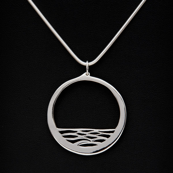 Calm, crafted in sterling silver by Kangaroo Island silversmith Fred Peters