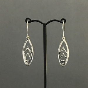 pierced sterling silver earrings