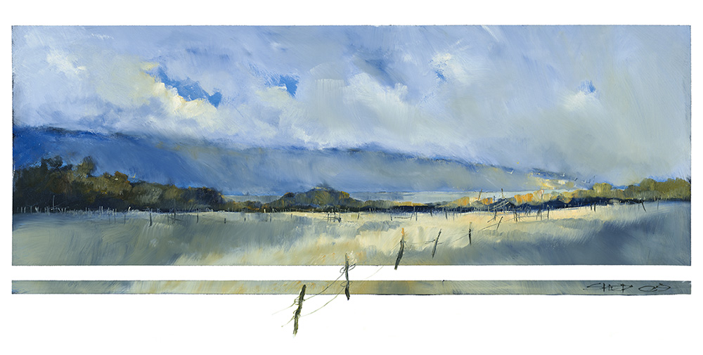 Toward Emu Bay by Neil Sheppard. First viewed in the Fine Art Kangaroo Island gallery in 2009, this iconic piece is among the most recognisable of Shep's work