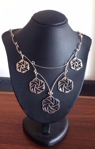 Black Hole Necklace fabricated sterling silver bespoke jewellery