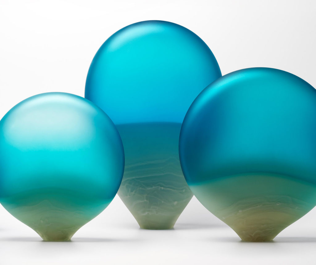 Ocean Pebbles glass sculpture by glass artist Llewelyn Ash. Created for Kangaroo Island exhibition SALA 2019
