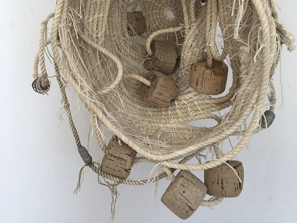 Striated Thornbill: Nest Series textile and found object sculpture