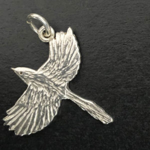 Superb Blue Wren sterling silver charm for bracelet