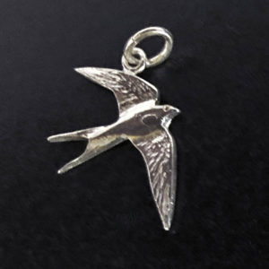 Sterling silver charm 'Welcome' Swallow by Fred Peters