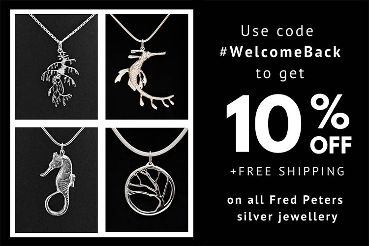 Welcome Back to Kangaroo Island silver jewellery discount offer